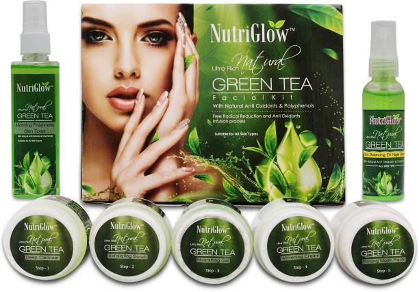 NutriGlow Set of 1 Green Tea Facial Kit + 1 Green Tea Toner + 1 Serum