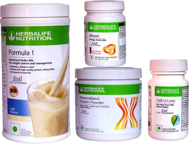 HERBALIFE Extraordinary Weight Loss Combo - Formula 1,PPP & Afresh With Cell U Loss Tablet Energy Drink