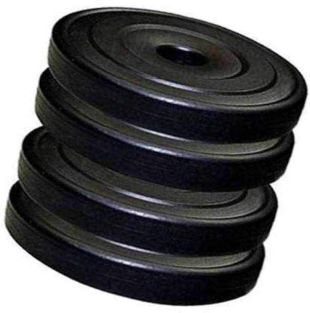 sai sports GYM FITNESS 2.5 K.G 4 PVC DUMBBLE PLATES Black Weight Plate