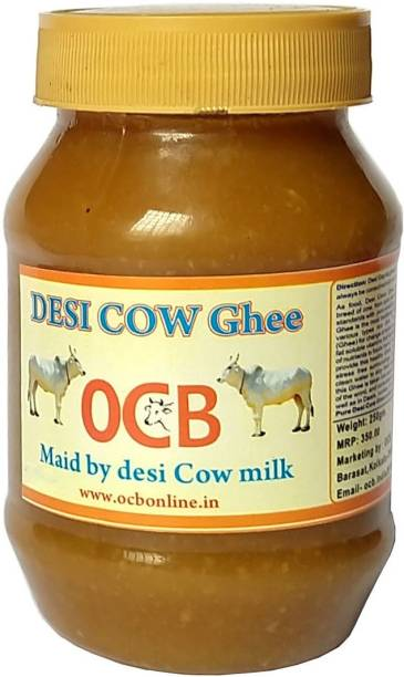 OCB DESHI COW Ghee MAID BY DESHI COW MILK 250gm 100% Neutral Pure (Home & hand Made) Ghee 250 g Plastic Bottle