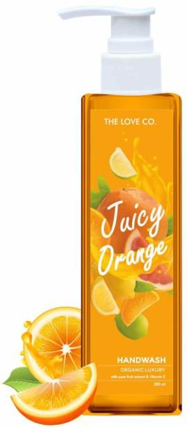 The Love Co. uicy Orange Natural Hand Wash with Tulsi, Neem Extracts - 200ml Hand Wash Bottle
