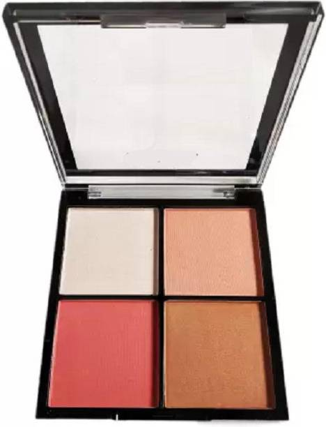 lujo 4 IN 1 HIGHLIGHTER BRONZER BLUSHER & CONTOUR 02 Highlighter