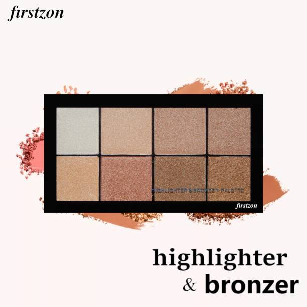 FIRSTZON face make up highlighter and bronzer combo palette|highlighter combo palette|bronzer palette|highlighter bronzer powder combo palette|face make up|highlighter Highlighter