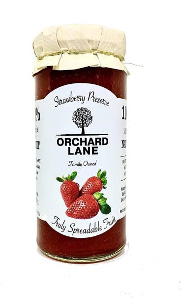 Orchard Lane Low Sugar Strawberry Jam 80% Strawberries- No preservatives or Colours 280 g