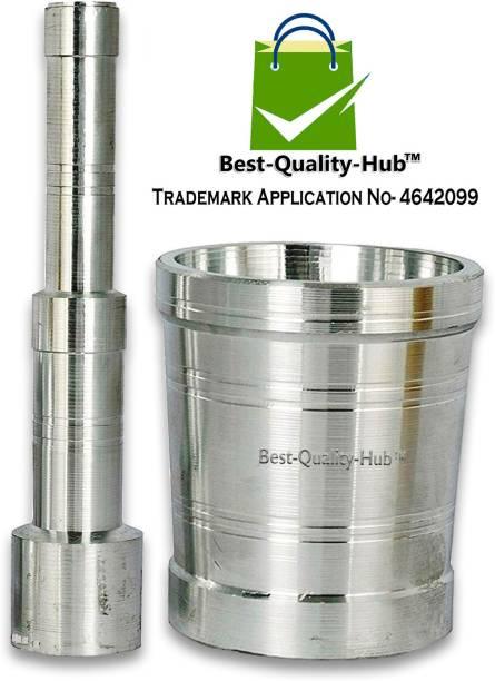 Best Quality Hub Mortar Pestle Set Okhli Masher Kitchen Aluminium Khalbatta Aluminium Masher