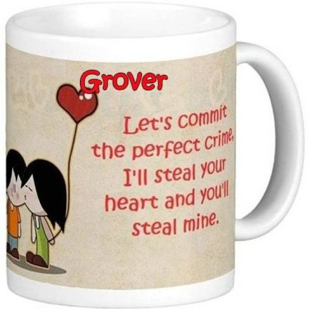 Exocticaa I Love You Grover Romantic Wish 94 Ceramic Coffee Mug