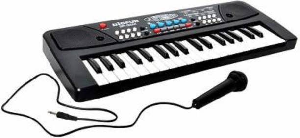 HREYANSH COLLECTION Kids Toys with Dc Power Option Electronic Musical Instruments 37 Keys Toy Music Piano Keyboard with Microphone (Multicolor)