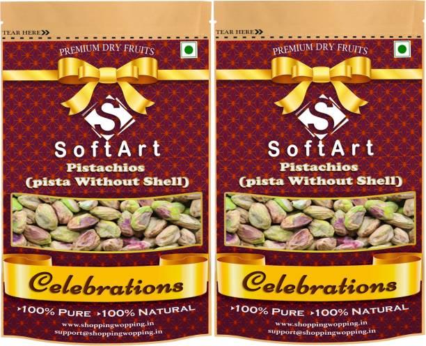 Soft Art Celebrations Pista Kernels Without Shell Vacuum Pack Pistachios