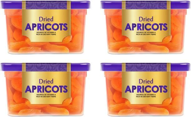 Manna Dried Apricots, 800g (200g x 4 Packs) - Premium Turkish Apricots/ Jumbo/ Seedless. 100% Natural. Rich in Iron, Fibre & Vitamins Apricots