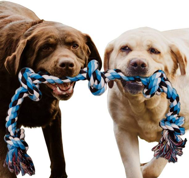THE DDS STORE Large Dog Rope Toys for Aggressive Chewers Dog Rope Pet Tug Toy Cotton Rope Dog Chew Toys for Large Dogs Tug of War Toy Strong Chewing Teething Training Interactive Dog Rope Toy MixColor Cotton Chew Toy, Fetch Toy, Tough Toy, Training Aid, Frisbee For Dog & Cat