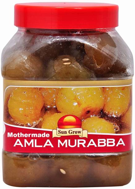 Sun Grow Organic Hand Made Premium Quality (Real Taste of Murabba) Mothermade Amla Murabba (1 Kg) Amla Murabba
