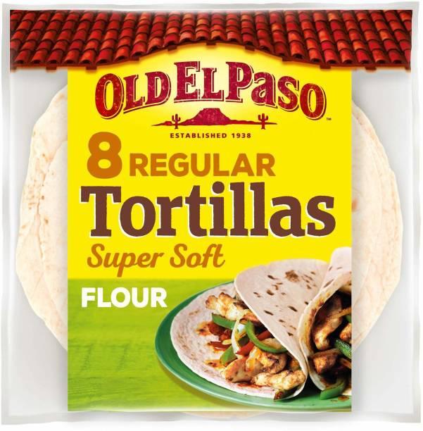 Old ELPaso 8 Regular Tortillas Flour Spuer Soft & Flexible 326 g