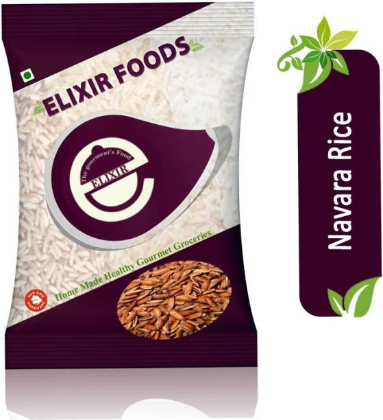 Elixir foods Navara(Njavara) Red Rice 9.75KG | Rich in Vitamin B, Iron , Zinc | Weight gain during Pregnancy | Increase lactation supply | Reduce Joint Pains Red Navara Rice (Medium Grain, Unpolished)