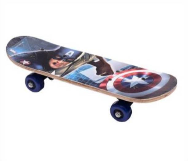 S.V.Enterprises Captain America Toy for Your Child Mini Skateboard Finger Board Skate Boarding Kit 4x17 inch 4 inch x 17 inch Skateboard