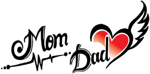 voorkoms Mom Dad with Heart Temporary Tattoo Waterproof For Girls Men Women Temporary Body Tattoo