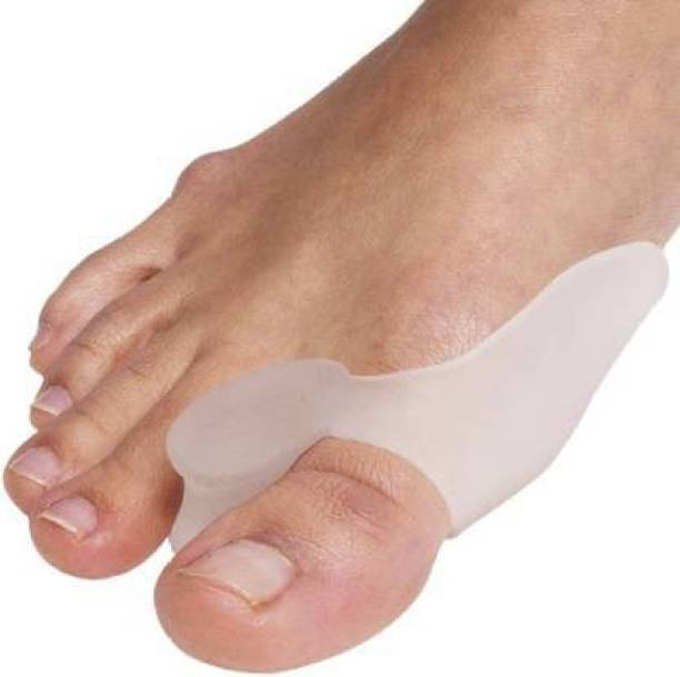wecare Bunion Pads & Toe Orthotics Thumb Big Bone Orthotics Toe Separators Toe Straightener Bunion Corrector Bunion Relief Kit For Men&Women Free Size - 1 Pair (Pack Of 2)