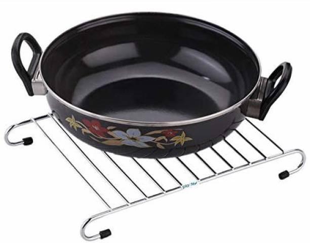 Plantex Hot Plate Rack/Hot Vessel Stand, Dining Table Hot Plate Stand/Hot Vessel Stand (Only Stand) Chrome Finish Trivet