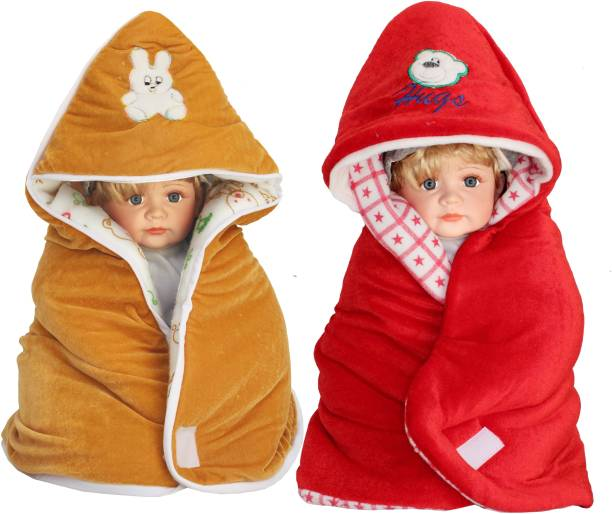 My New Born Cartoon Crib Hooded Baby Blanket