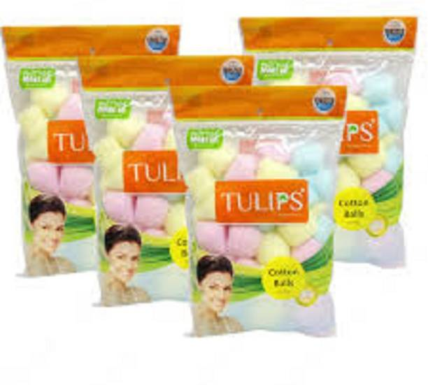 Tulips COLOR COTTON BALLS IN A ZIPLOCK BAG PACK OF 4