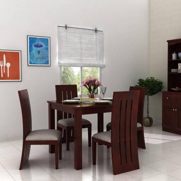 Taskwood Furniture TWF_DS_05 Solid Wood 4 Seater Dining Set