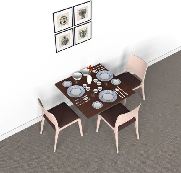 Auspicious Home Engineered Wood 2 Seater Dining Table