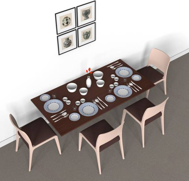 Auspicious Home Engineered Wood 4 Seater Dining Table