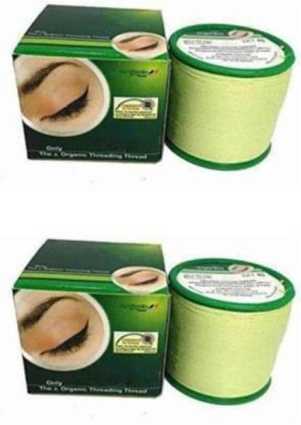 Laddu Gopal Hair Removing Cotton Threading Eyebrow Thread Eyebrow Thread (300 m, Pack of2) Eyebrow Thread