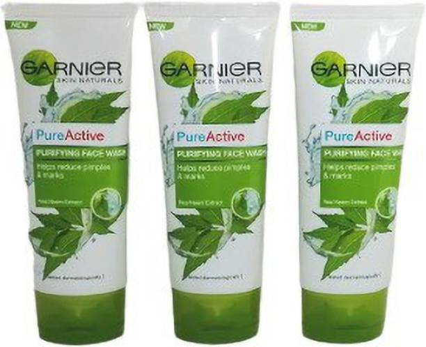 GARNIER PURE ACTIVE PURIFYING NEEM FACE WASH (PACK OF 3) Face Wash