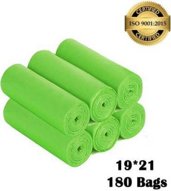 Personality plus Biodegradable Green Garbage Bags 19*21 inches ( pack of 6, 180 pieces ) Medium 15 L Garbage Bag
