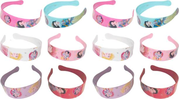 barakath Cartoon Barbie Doll Printed Plastic Daily Use Hair Band/Head Band Ware Fashion Accessories For Women's & Girl's (Pack Of 12) Head Band (Multicolor) Hair Band