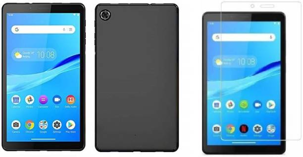 A-Allin1 Screen Guard & Protector Applicator Accessory Combo for Tab Glass & Back cover for Lenovo Lenovo Tab M7 (2nd Gen)