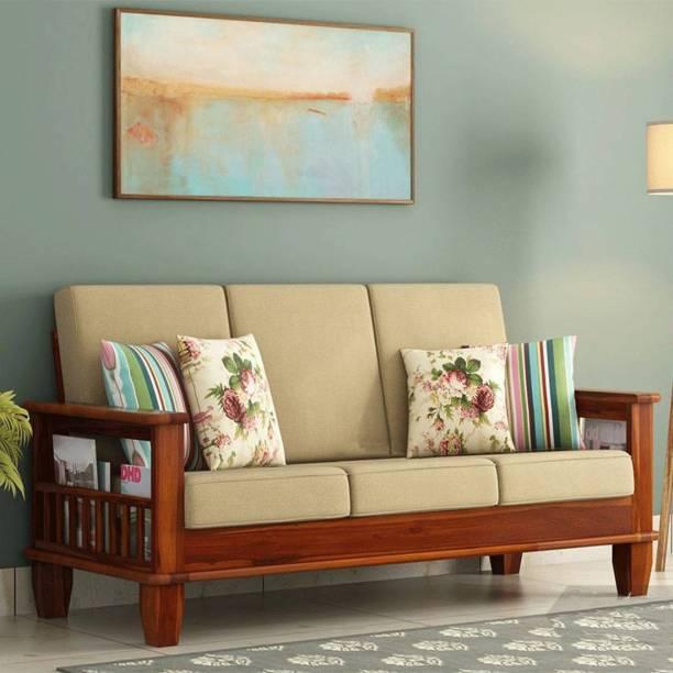 AL-AAYAT Living Room Wooden Sofa Set Fabric 3 Seater  Sofa