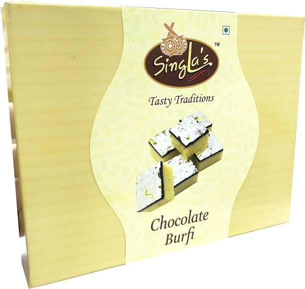 Singla Sweets Chocolate Burfi 400g Delicious tasty Sweets (Square Shape) Box
