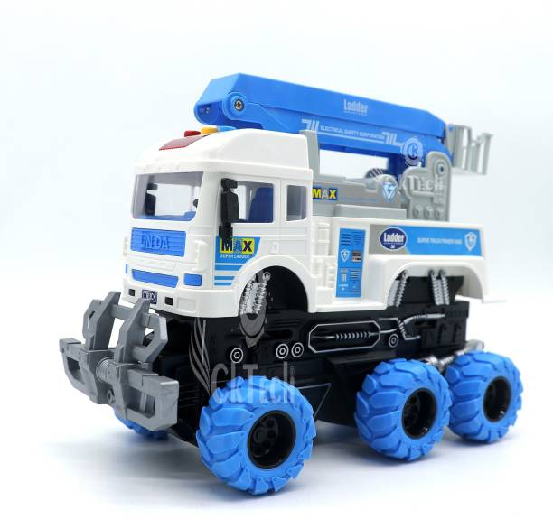 cktech 6 wheeler truck electric safety truck ,360 Rotate Barrels Friction Power Truck Excavator toys JCB TOYS Vehicles Truck toys Construction set JCB Truck Toy for kids 3+ Years Old Boys and Girls