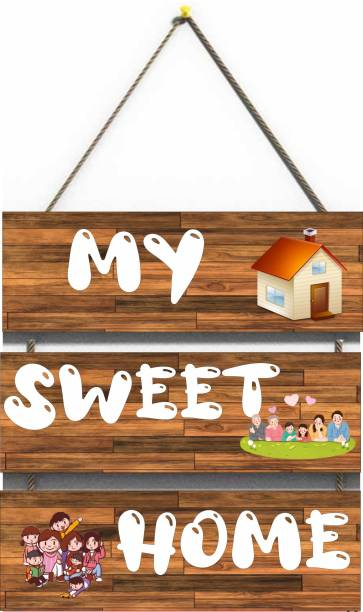 Dinine Craft My Sweet Home Brown Wall Hanging