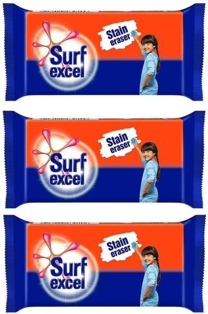 Surf excel Stain Remover pack of 03 Detergent Bar