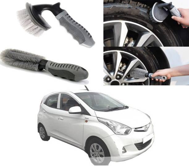 Ushergy Car tyre brush 2pcs CTB-144 2 Wheel Tire Cleaner