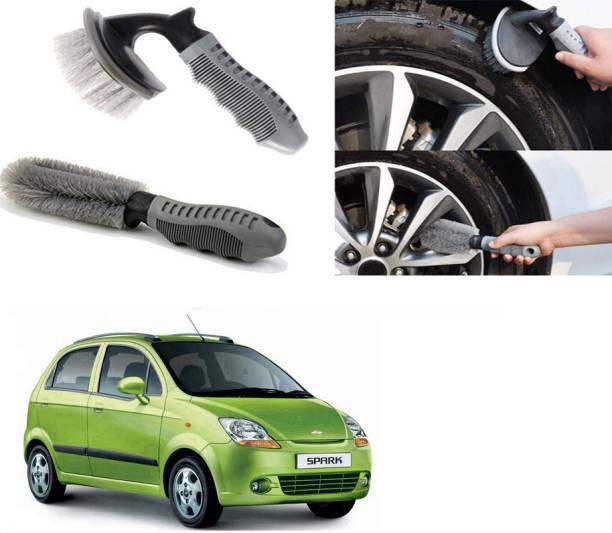 Ushergy Car tyre brush 2pcs CTB-462 2 Wheel Tire Cleaner