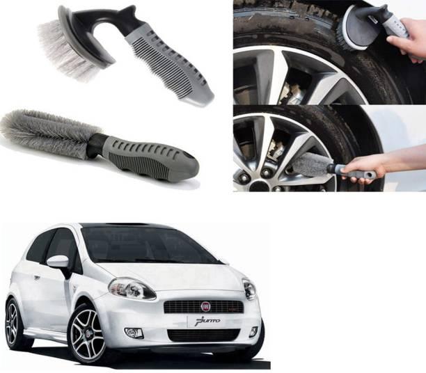 Ushergy Car tyre brush 2pcs CTB-320 2 Wheel Tire Cleaner