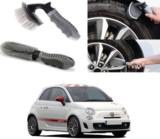 Ushergy Car tyre brush 2pcs CTB-382 2 Wheel Tire Cleaner