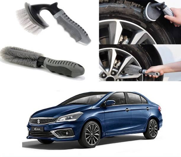 Ushergy Car tyre brush 2pcs CTB-471 2 Wheel Tire Cleaner