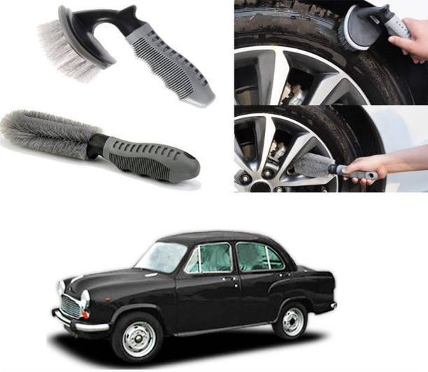Ushergy Car tyre brush 2pcs CTB-17 2 Wheel Tire Cleaner