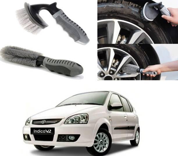 Ushergy Car tyre brush 2pcs CTB-43 2 Wheel Tire Cleaner