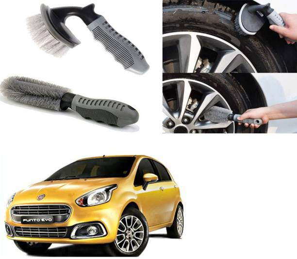 Ushergy Car tyre brush 2pcs CTB-332 2 Wheel Tire Cleaner
