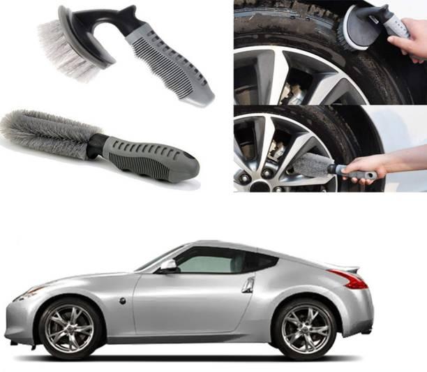 Ushergy Car tyre brush 2pcs CTB-334 2 Wheel Tire Cleaner