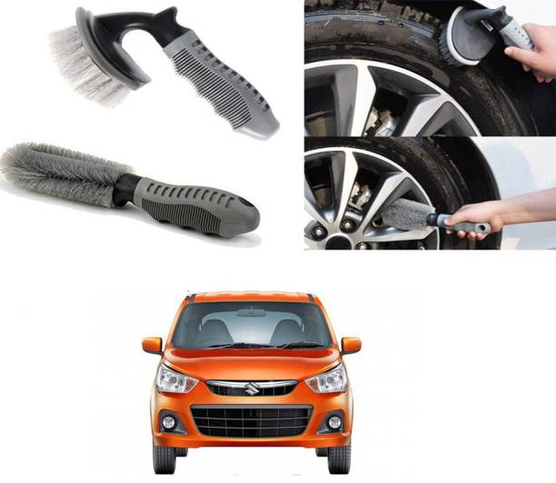 Ushergy Car tyre brush 2pcs CTB-177 2 Wheel Tire Cleaner