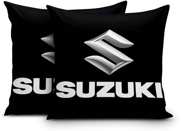 DD Enterprises Black Velvet Car Pillow Cushion for Maruti Suzuki