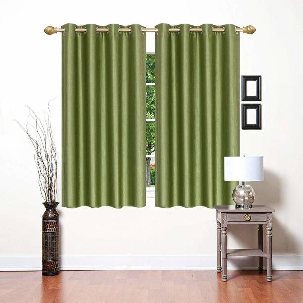 Goodgoods 152 cm (5 ft) Polyester Window Curtain (Pack Of 2)