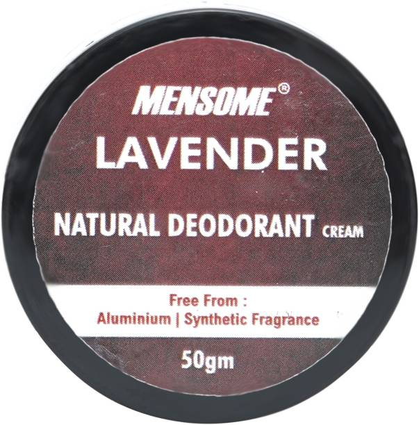 MENSOME Lavender Natural Deodrant - Long Lasting Naturally Derived Deodrant For Men And Women, 50 gm Deodorant Cream  -  For Men & Women