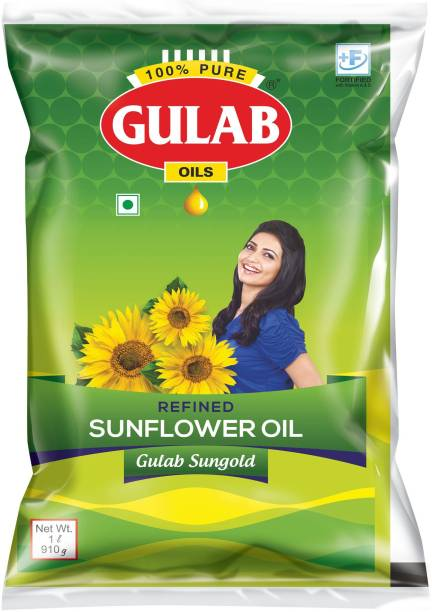 Gulab Sungold Sunflower Oil Pouch